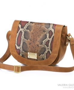 bolso piel bandolera color whisky